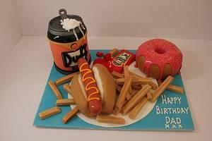 Homer Simpsons Dinner!! - Cake by Paul James