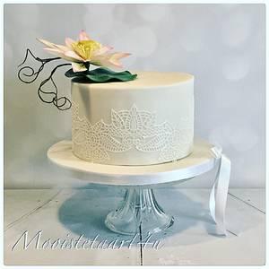 Wedding cake waterlily... - Cake by Mooistetaart4u - Amanda Schreuder