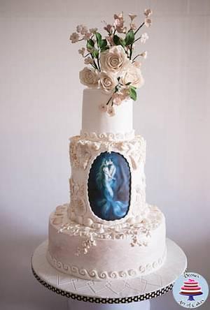 The Mer Couple A Beach Theme Wedding Cake - Cake by Veenas Art of Cakes