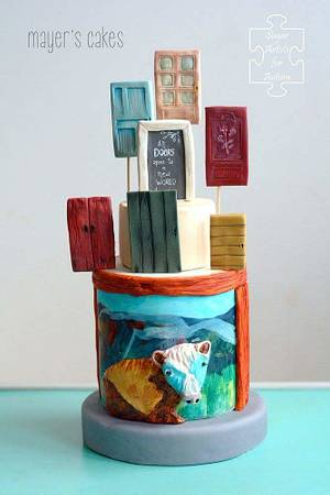 SugarArt4Autism Collaboration  - Cake by Mayer Rosales | mayer's cakes