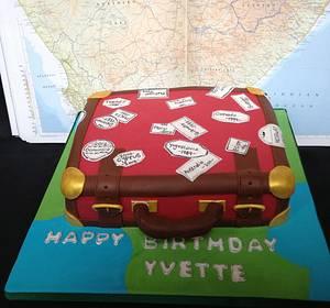 Suitecase Birthday Cake - Cake by Daisy Brydon Creations