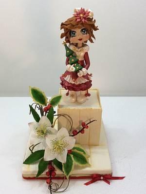 Christmas Dolls in sugar flowers - Cake by Carla Poggianti Il Bianconiglio