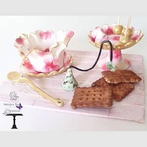 A Sugar Artist Tea Party  - Cake by Designsbyvictoria
