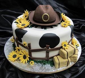 Country feelin' engagement cake - Cake by Sweet Traders
