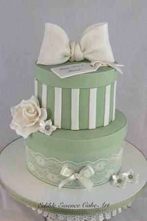 Sage & Ivory Vintage Sweet 16 - Cake by Edible Essence Cake Art