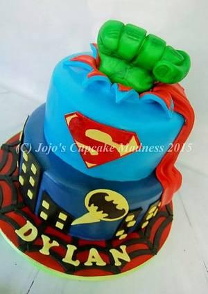 Superheros! - Cake by JojosCupcakeMadness