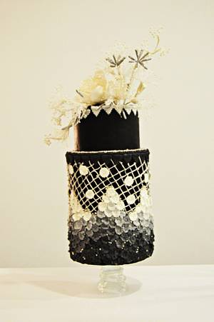 Almost 50 shades of Gray - Monochrome collaboration - Cake by Catalina Anghel azúcar'arte