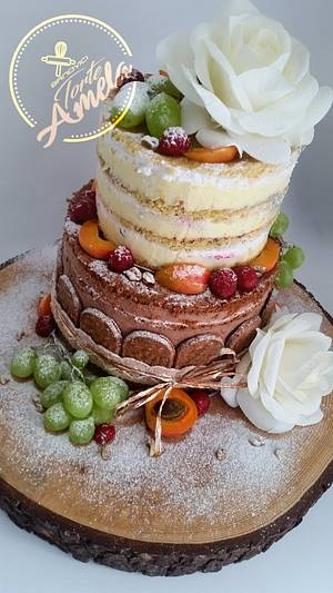 Naked wedding cake - Cake by Torte Amela