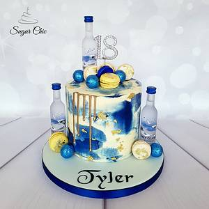 x Electric Blue Marble Buttercream x - Cake by Sugar Chic