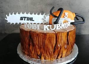 saw and stump cake - Cake by Ako cukor sladká