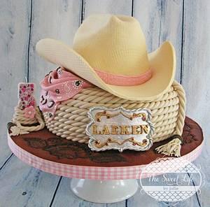 Cowboy hat & buckle cake - Cake by Julie Tenlen