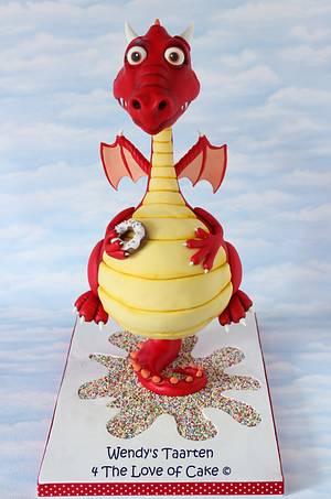 my dragon cake - Cake by Wendy Schlagwein