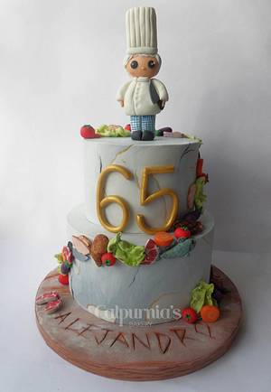 Chef cake - Cake by Calpurnia's bakery