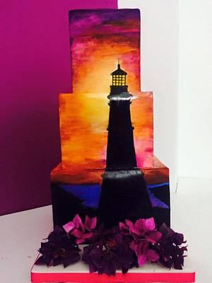 lighthouse cake - Cake by MELANIASCAKEATELIER