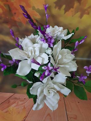 World Cancer Day Sugar Flowers and Cakes in Bloom - Cake by JudeCreations