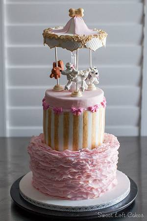 Vintage Puppy Carousel Cake (aka Snoop Doggie Dogg Cake) - Cake by Heidi
