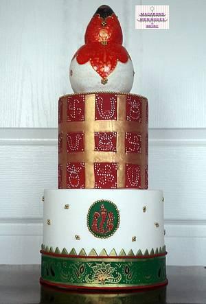 Bridal Weaves  - Cake by RupalsCakes (MACARONS MERINGUES &MORE )