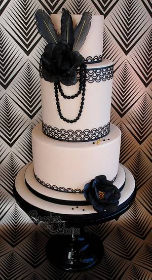 Gatsby themed 'Flappers and Dappers' cake - Cake by CupcakesbyLouise