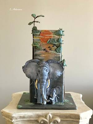Elephant cake - Cake by More_Sugar