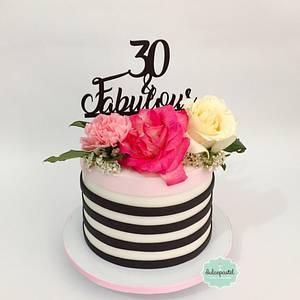 Torta Flores - Flowers Cake - Cake by Dulcepastel.com