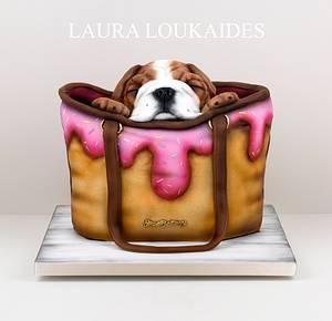 Shoe Bakery Bulldog Puppy Cake - Cake by Laura Loukaides