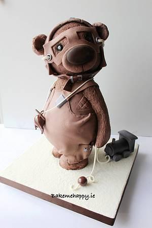 Teddy bear cake - Cake by Elaine Boyle....bakemehappy.ie