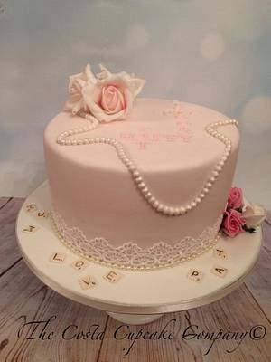 Classy 70th Birthday Cake  - Cake by Costa Cupcake Company