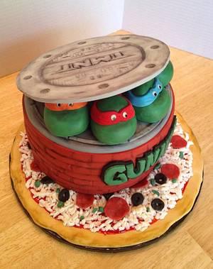 Teenage Mutant Ninja Turtles - Cake by Misty