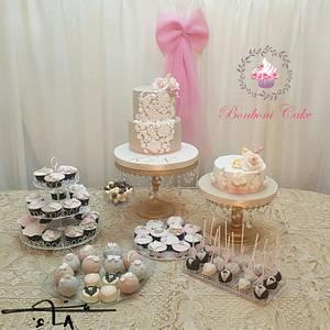 Wedding dessert buffet - Cake by mona ghobara/Bonboni Cake