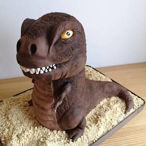 Maxosaurus is 4 - Cake by Sweet cakes by Masha