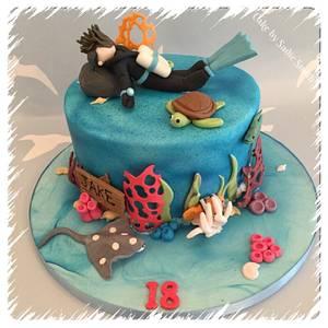 Scuba Diver - Cake by Sadie Smith
