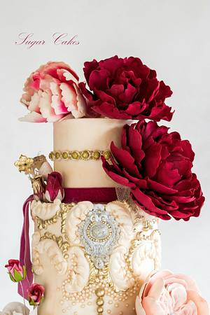 """""""Scarlet Ruby"""" Spectacular Pakistan Collaboration - Cake by Sugar Cakes"""