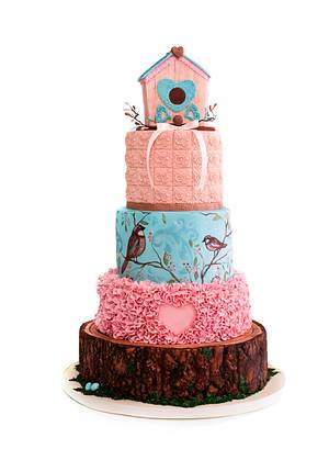 So Flo competition entry- Bird House cake - Cake by CuriAUSSIEty  Cakes
