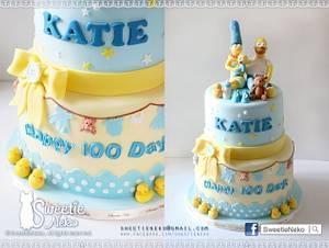 The Simpsons 100 Days celebration cake - Cake by Karen Heung