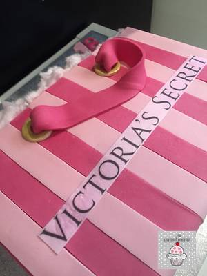 Victoria's Secret Bag Cake. - Cake by Laura's Bakery