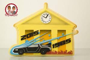 DeLorean Return - BTTF 30th Anniversary Collaboration - Cake by CAKE RÉVOL