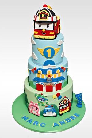 Robocar Poli Cake - Cake by The Sweetery - by Diana