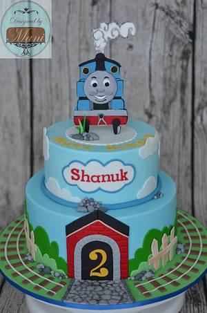 """Thomas the Tank"" birthday cake - Cake by designed by mani"