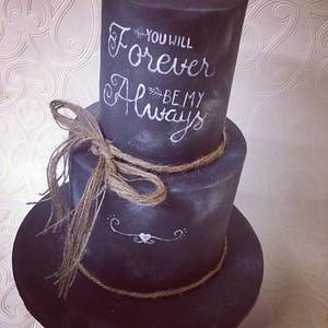 Forever and always  - Cake by Missyclairescakes