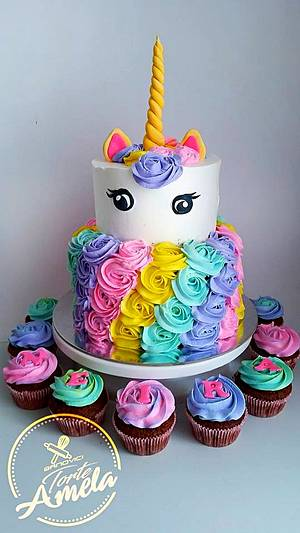 unicorn cake - Cake by Torte Amela