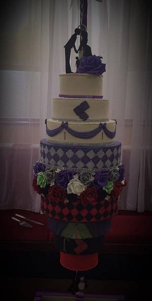 joker & harleyquinn meet traditional - Cake by Witty Cakes