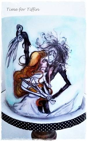 Edward Scissorhands  - Cake by Time for Tiffin