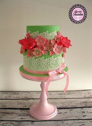Mint and Pink - Cake by Daantje
