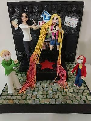 Once upon today  rapunzel  - Cake by Sibelvepastalari