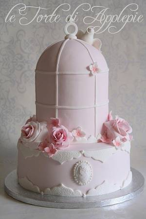 Pink Bird cage cake - Cake by Le Torte di Applepie