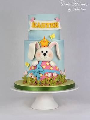 Easter Egg Hunt Cake - Cake by CakeHeaven by Marlene