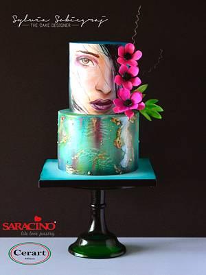 Hand painted birthday cake - Cake by Sylwia Sobiegraj The Cake Designer
