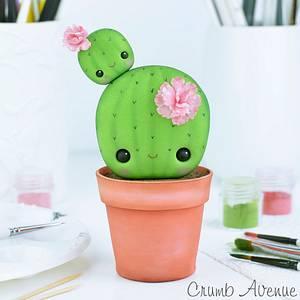 Cute Cactus Cake Topper  - Cake by Crumb Avenue