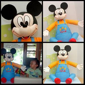 3d Mickey Mouse Cake - Cake by Marjorie
