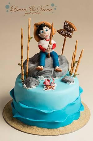 Sampei the fisherman cake - Cake by Laura e Virna just cakes